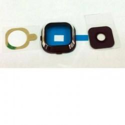 Embellecedor de câmera traseira com lente para Samsung Galaxy A7, A700F Preto