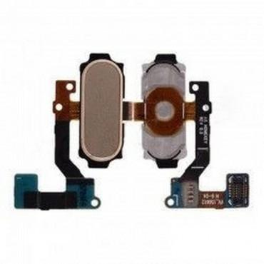 Flex con botón home para Samsung Galaxy A8, A800-Dorado