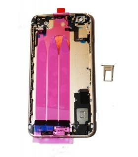 Carcaça traseira completa para iPhone 6S plus-Rosa dourada