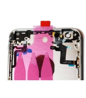 Carcasa trasera completa para iPhone 6S plus-Plateada