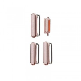 Conjunto de 4 botones Rosa Dorados para iPhone 6s