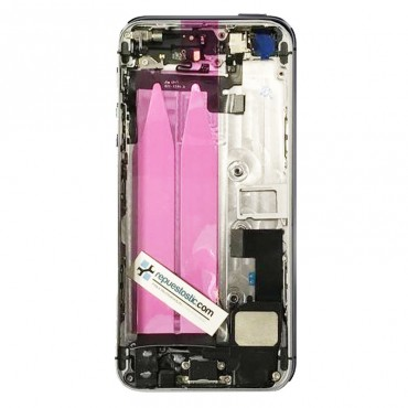 tapa carcasa trasera Completa para iPhone 5s color Negro
