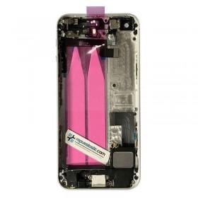Carcasa tapa trasera completa para iPhone 5s color plata