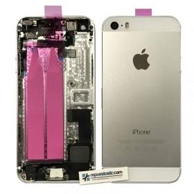 Carcaça tapa traseira completa para iPhone 5s cor plata