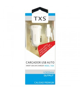 Cargador TXS coche USB lightning para Iphone/Ipad