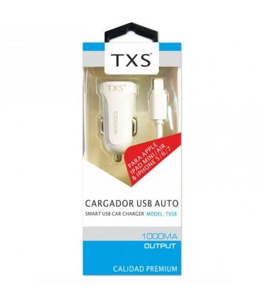 Cargador TXS coche USB lightning para Iphone/Ipad