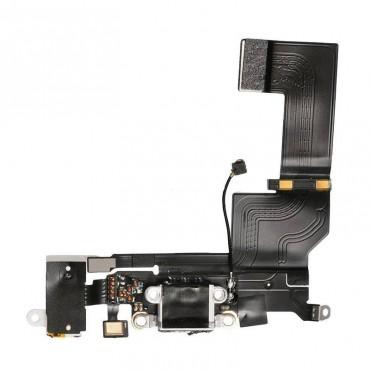 Flex Conector de carga, micro y antena iphone SE blanca