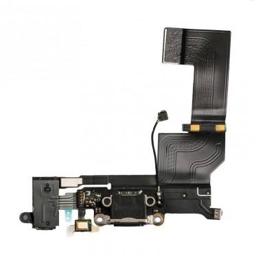Flex Conector de carga, micro y antena iphone SE negro