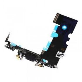 flex con conector de carga, micrófono para iPhone 8 Negro