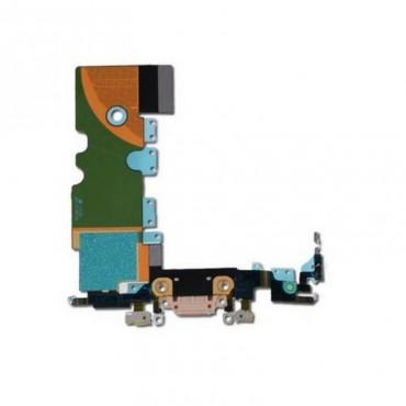 flex con conector de carga y micrófono para iPhone 8 Dorado