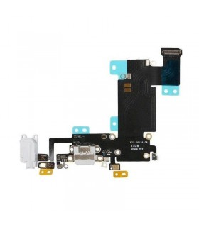 Flex conector de carga mas Micro iPhone 6S Plus blanco