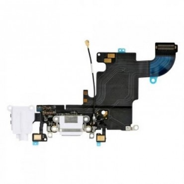 Flex conector de carga mas Micro iPhone 6S blanco