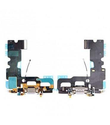 Flex con conector de Carga, Datos, Antena y Microfono para iPhone 7 - Gris
