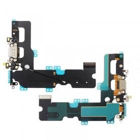 Flex con conector de Carga, Datos, Antena y Microfono para iPhone 7 Plus- Blanco