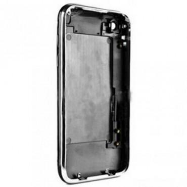carcasa trasera negro con marco metalico iphone 3GS de 8GB