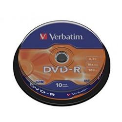10 DVD - R 4.7GB VERBATIM