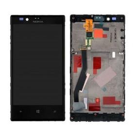 pantalla completa con marco para Nokia lumia 720 negra