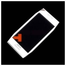 Pantalla digitalizadora, ventana táctil con marco cubre display de Nokia X7-00 Blanco