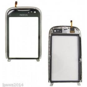 Pantalla Tactil-Digitalizador con marco Nokia C7. Gris