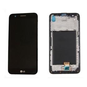 Pantalla completa (LCD/display + digitalizador/tactil) con marco para LG K10 2017, M250, negra