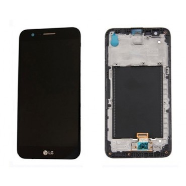 Pantalla completa (LCD/display + digitalizador/táctil) con marco para LG K10 2017, M250, negra