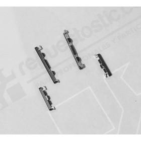 Set de botones de subir y bajar volumen y encendido color gris oscuro para OnePlus 5, A5000