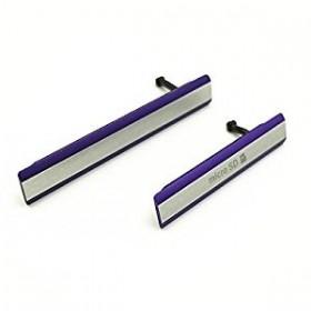 Conjunto de Tapa Lateral para Sony Xperia Z2 em cor purpura.