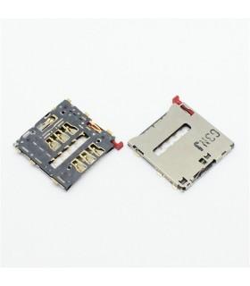leitor de cartão SIM para Sony Xperia Z 2, D6502, D6503, M51W