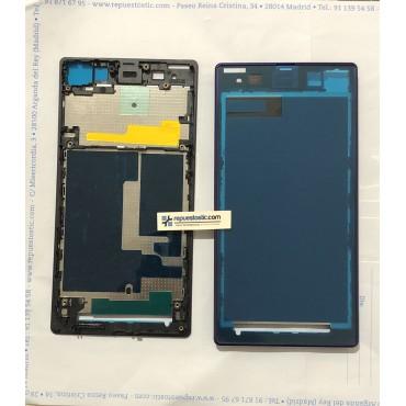Carcaça central de ecrã, chasis intermedio para Sony Xperia Z1, L39H, L39T, C6902, C6903, C6906, C6916, C6943 Morada