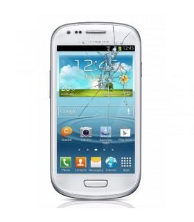 Reparaçao Ecrã (cristal) Samsung S4 MINI i9190/i9195 BLANCA