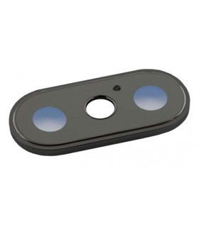 Lente de cámara trasera con marco negro para iPhone X