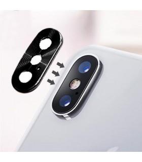 Lente de cámara trasera con marco plateado para iPhone X