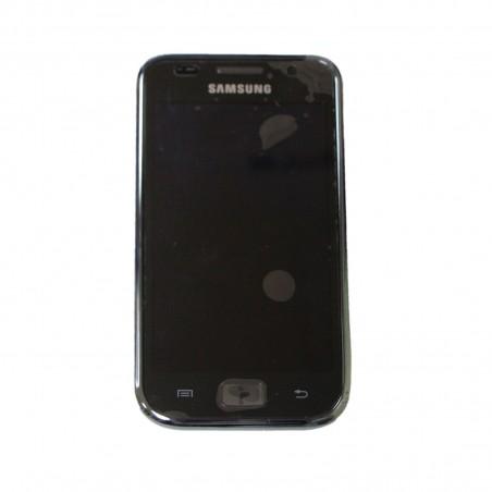 Pantalla completa con marco para Samsung GT-I9000, i9001 Galaxy negra