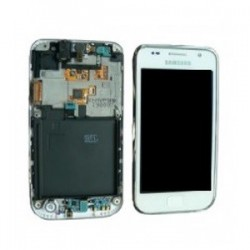Pantalla completa con marco para Samsung GT-I9000, i9001 Galaxy Blanca