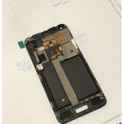 Pantalla completa con marco para Samsung Galaxy S Advance I9070 negra