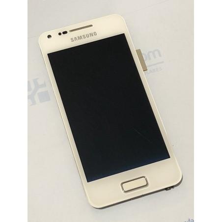 Pantalla completa con marco para Samsung Galaxy S Advance I9070 Blanca