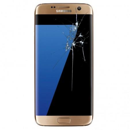 Reparacion pantalla original completa Samsung S7 edge G935 ORO