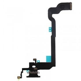 Flex con conector de carga, micrófono iPhone X Negro