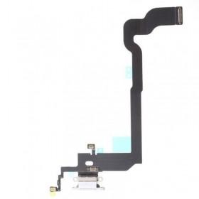 Flex con conector de carga, micrófono iPhone X Blanco