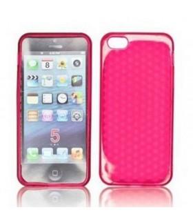 funda de silicona rosa para iphone 5 5s