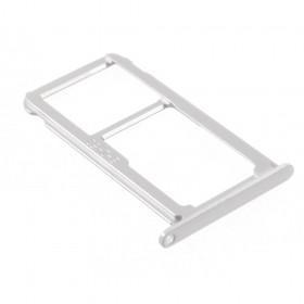 Bandeja DUAL SIM Micro SD Huawei P10 lite Plata