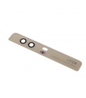 Embellecedor superior trasero + lente de camara para Huawei P9 Plus - Oro
