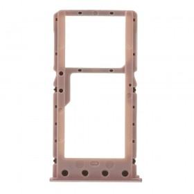Bandeja DUAL SIM Micro SD Xiaomi Redmi 6/6A oro rosa