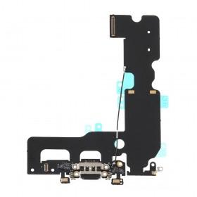 Flex con conector de Carga, Datos, Antena y Microfono para iPhone 7 Plus- Negro