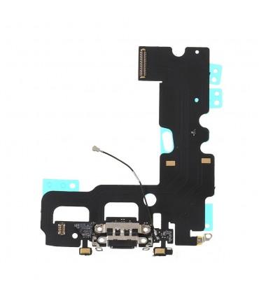 Flex con conector de Carga, Datos, Antena y Microfono para iPhone 7 - Negro