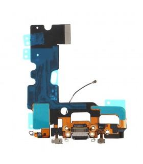 Flex com conetor de Carrega, Datos, Antena e Microfono para iPhone 7 - Preto
