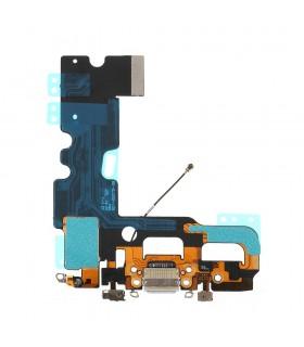 Flex com conetor de Carrega, Datos, Antena e Microfono para iPhone 7 - Gris