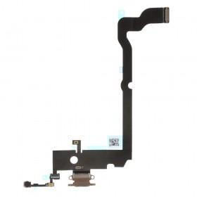 Flex conector de carga iPhone XS Max Oro