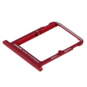 Bandeija Dual SIM Micro SD Xiaomi Mi 6X/ Mi A2 Vermelha