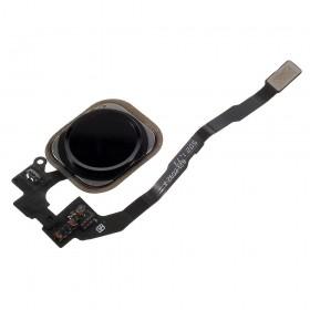 Flex de botão home completo iPhone 5S preto